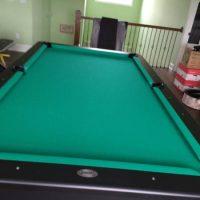 Olhausen Like New 8Ft Regulation Size Black Modern Style Pool Table