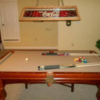 Solid Oak Pool Table & Coca Cola Light