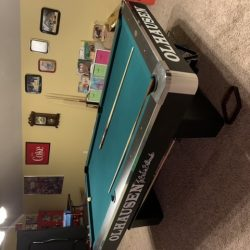 Olhausen pool table regulation