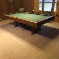 8' Natural Oak Pool Table
